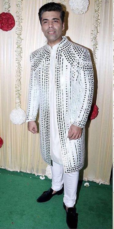 Yay or Nay? Karan Johar wearing an ivory Abu Jani & Sandeep Khosla at Ekta Ravi Kapoor's diwali party - SeenIt