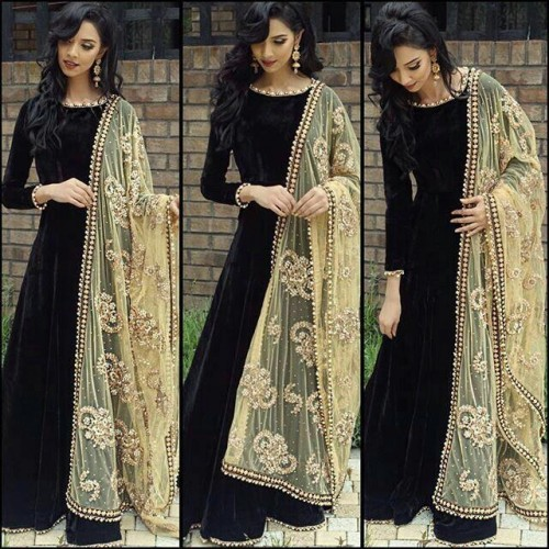 where can I buy this black floor length indian anarkali - SeenIt