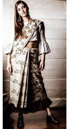Want a similar printed cotton saree like the one which Sonam Kapoor is wearing - SeenIt