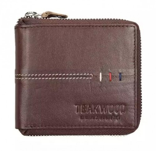 leather zip around wallet it should have silver zip any colour is fine but i prefer tan - SeenIt