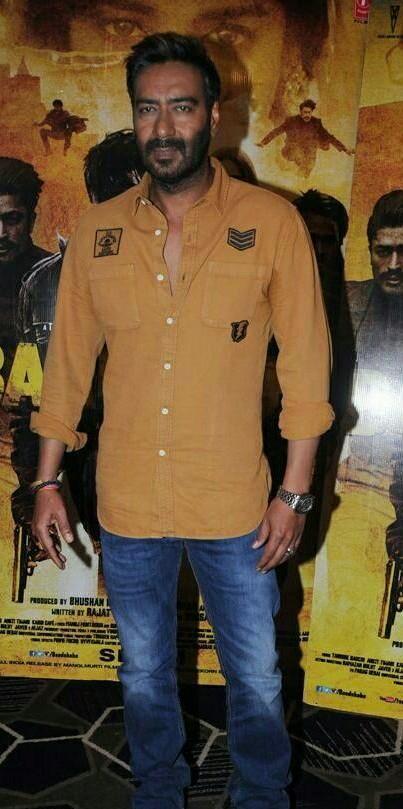 Ajay Devgn mustard shirt for Baadshaho promotions - SeenIt