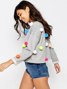 looking for a similar pompom sweater in any colour - SeenIt