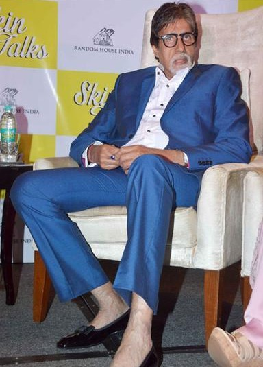 amitabh bachchan blue suit in a book talk event - SeenIt