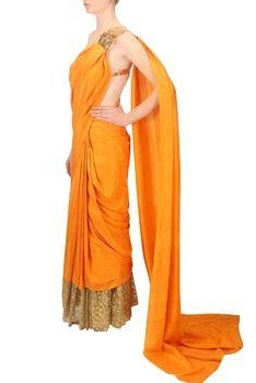 i want an orange saree like this ,please help me to find one - SeenIt