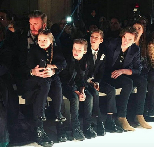 The Beckham genes !!!!!! At Victoria Beckham's show at the nyfw Yay or Nay?? - SeenIt