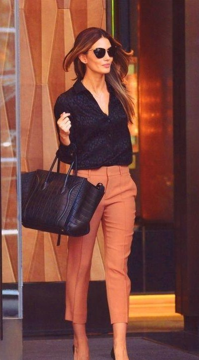 Looking for this black shirt and orange trousers - SeenIt