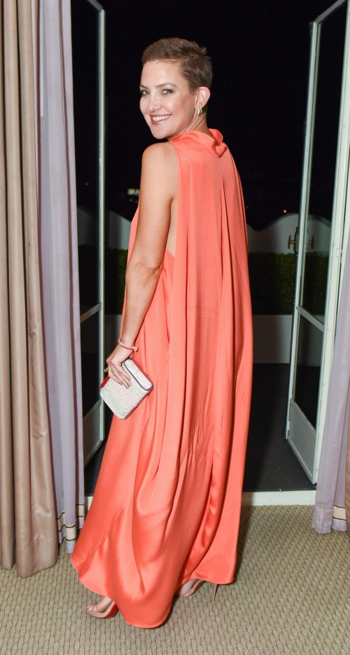 Yay or Nay? Kate Hudson in this orange Valentino gown - SeenIt