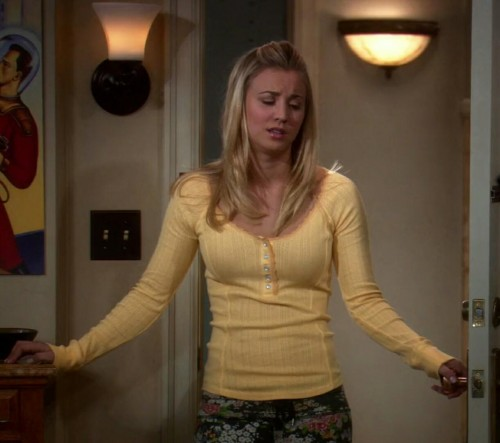 Pennys Yellow Buttoned Top from Big Bang Theory - SeenIt