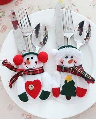 Looking for this snowman cutlery holders - SeenIt
