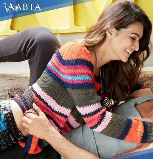 Kriti Sanon striped multi color sweater from Raabta - SeenIt