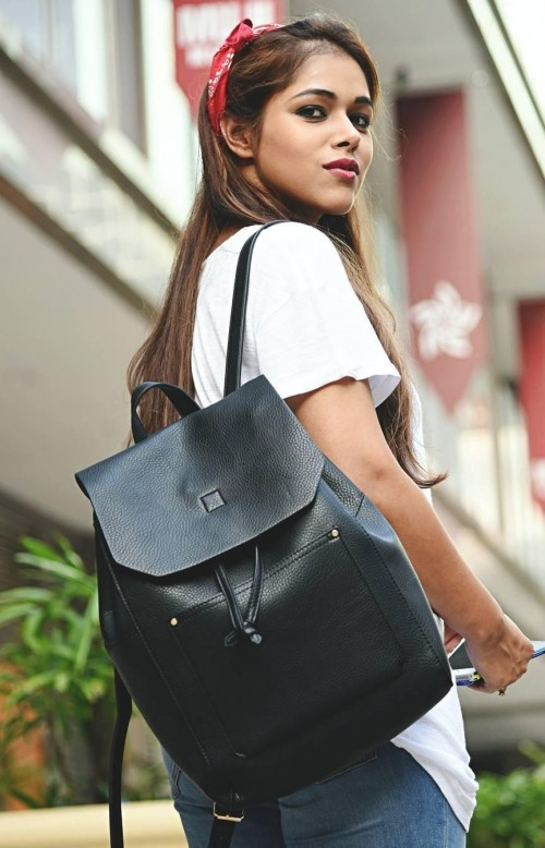 This black backpack that is seen in my multi faceted diary - SeenIt