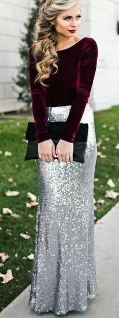 Looking for the sequin skirt and the velvet top - SeenIt