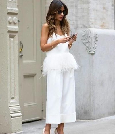 Similar white fur jumpsuit - SeenIt