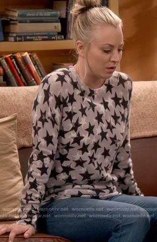 Penny's Star printed Sweater or Top  The Big Bang Theory. Thank you. - SeenIt