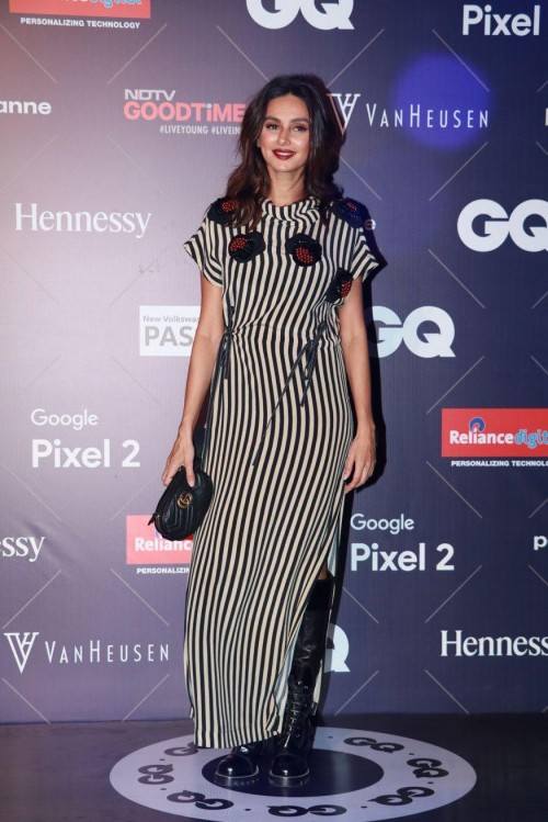 Yay or Nay? Shibani Dandekar attends the GQ fashion nights this year wearing a midi dress with a side slit - SeenIt