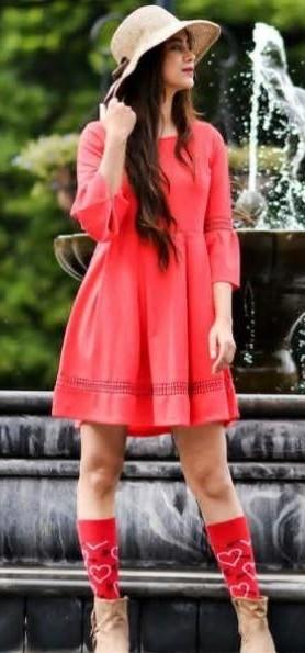 Red skater dress - SeenIt