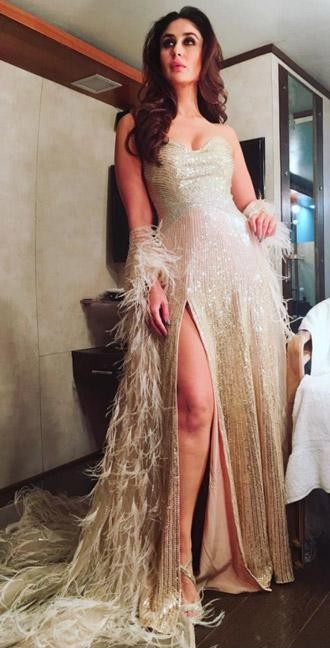 Yay or Nay? Kareena Kapoor in this gold shimmer gown - SeenIt