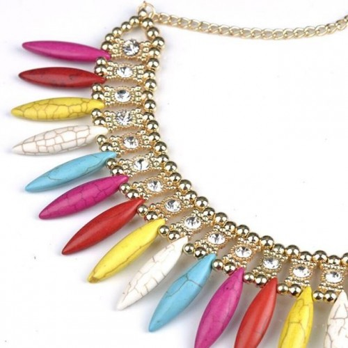 Want this multi colored stone necklace - SeenIt