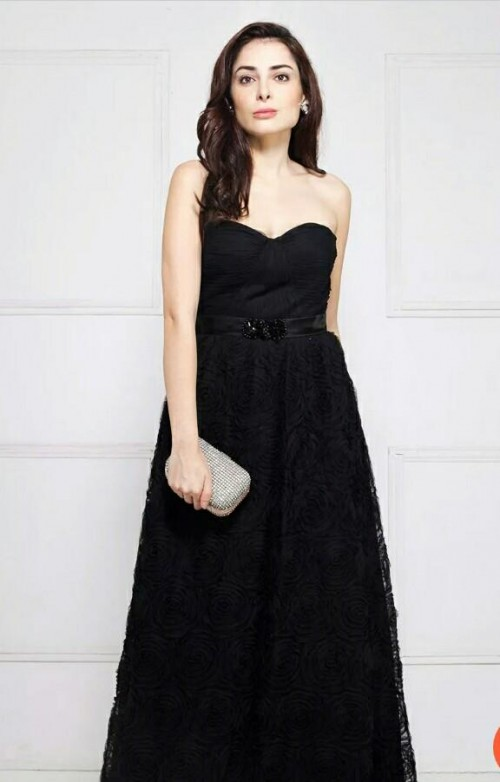 I want this exact black strapless gown.... - SeenIt