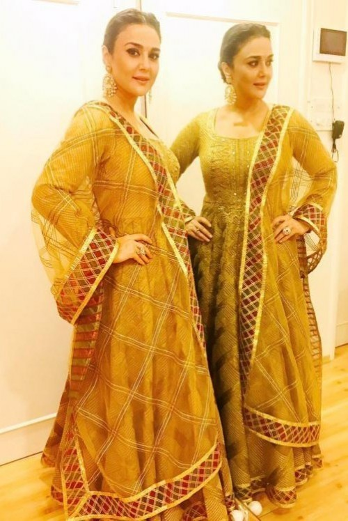 Yay or Nay? Preity Zinta in this gold anarkali - SeenIt