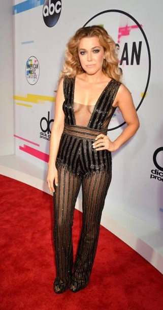 Yay or Nay? Rachel Platten attends the 2017 American Music Awards wearing a plunge neck jumpsuit - SeenIt
