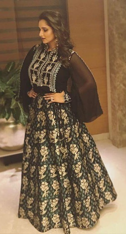 Yay or Nay? This black gold embroidered gown that Sania Mirza is wearing - SeenIt