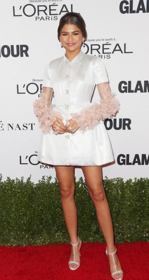 Yay or Nay? Zendaya in this white shirtdress - SeenIt