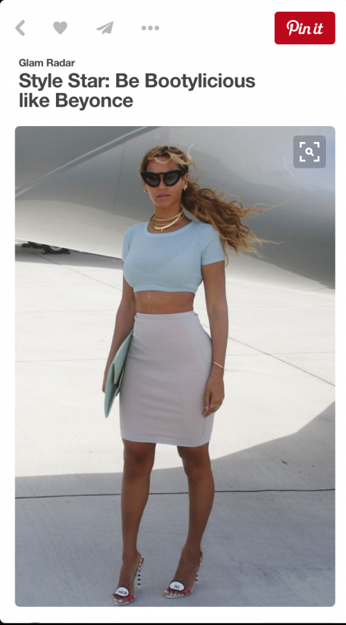 That combo is so pretty.. I want it all ! the bodycon skirt and fitted crop top - SeenIt