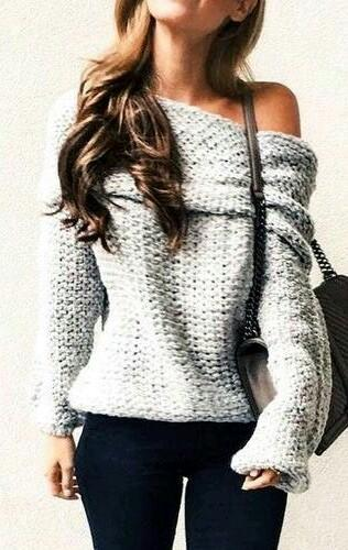 same one-shoulder grey sweatshirt as in the pic - SeenIt