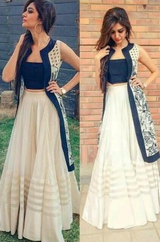 this white and blue lehenga...amazing one, I'm looking for from trusted sites - SeenIt
