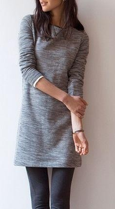 Similar grey sweater dress - SeenIt