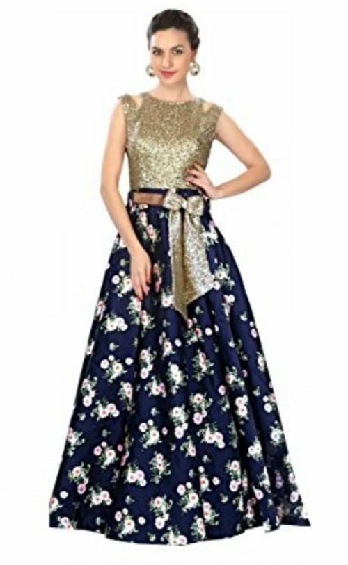 Similar golden and black full length dress - SeenIt