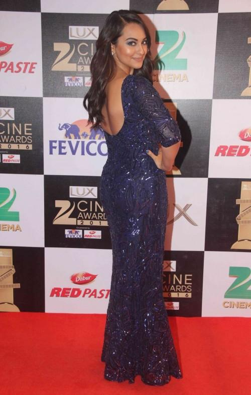 Isnt Sonakshi glowing in this sequinned column gown by Nadine Dhody? - SeenIt