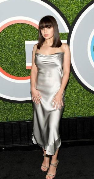 Yay or Nay? Charli XCX attends the 2017 GQ Men of the Year party at Chateau Marmont wearing a silver slip dress - SeenIt