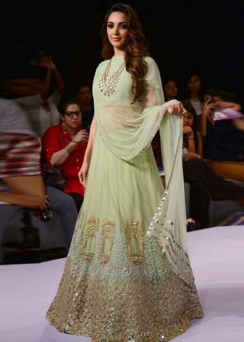 I am looking for similar style indian wear. Saree in pastel colors. - SeenIt