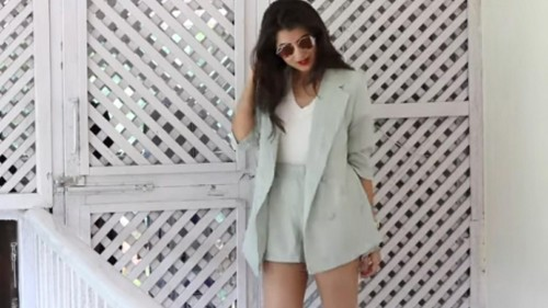 looking for similar Blazer and shorts as co-ords. - SeenIt