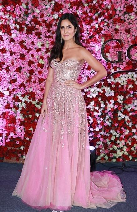 Katrina Kaif pink sequin gown at the lux golden rose awards 2017 - SeenIt