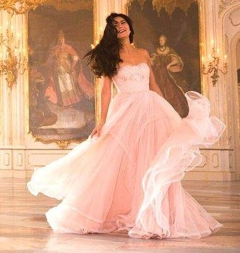 Katrina Kaif pink tube gown from the movie Tiger Zinda Hai - SeenIt