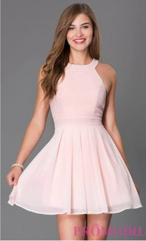 I'm looking for exact baby pink skater dress in India - SeenIt