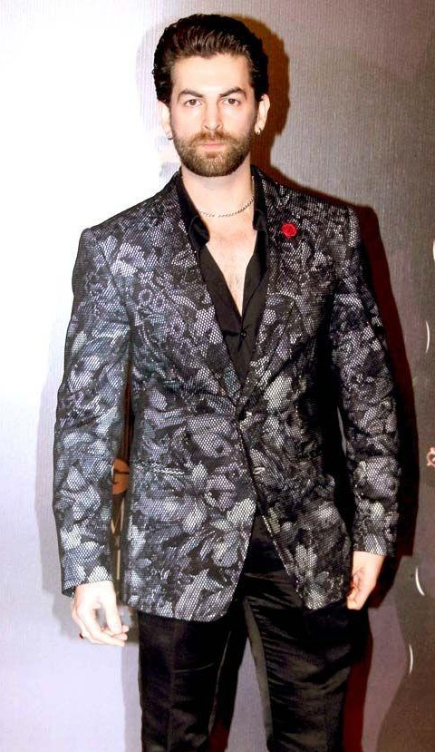 Black printed blazer like Neil Nitin Mukesh is wearing - SeenIt