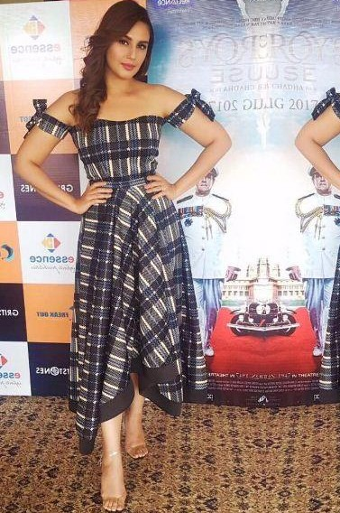 Yay or Nay? Huma Qureshi in this blue white midi dress - SeenIt