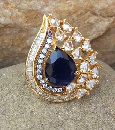 want this ring diamond and blue saphire ring - SeenIt