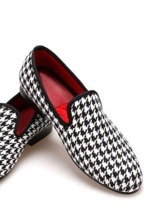Similar white houndstooth loafers - SeenIt