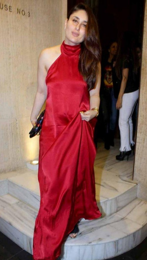 1e0b22e492 red satin silk tube dress worn by alia bhatt. 1 Answer. 6.1k. This exact  same red halter neck maxi-dress that Kareena Kapoor Khan is wearing -