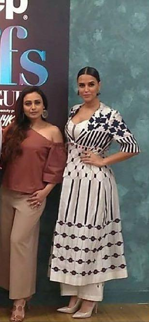 Neha Dhupia s white outfit from Vogue bff season 2 - SeenIt 87bac360c