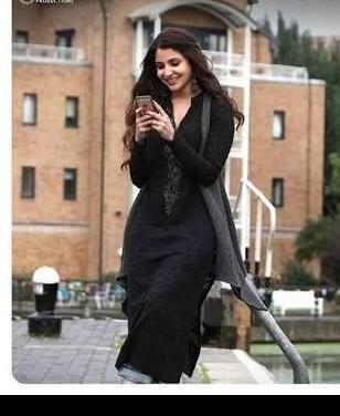 Black net kurta worn by Anushka in ae Dil hai mushkil - SeenIt