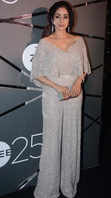 Yay or Nay? Sridevi in this white shimmer jumpsuit - SeenIt