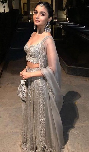 Yay or Nay? Alia Bhatt in this silver shimmer lehenga - SeenIt