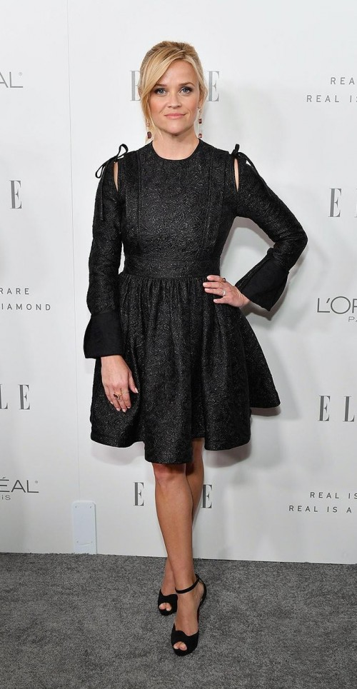 Yay or Nay? Reese Witherspoon in this black shimmer dress - SeenIt