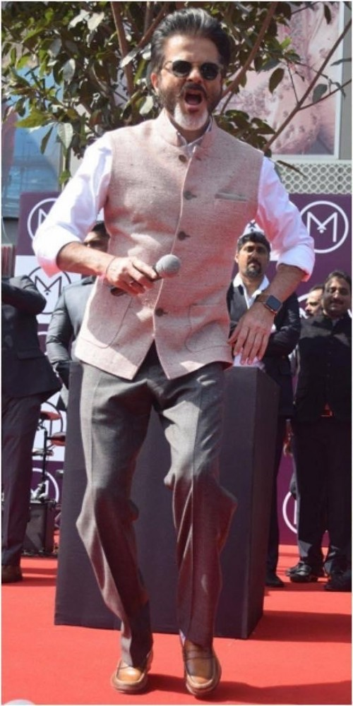 505e5b164e3 Anil Kapoor s in this beige bandhgala grey pants - SeenIt
